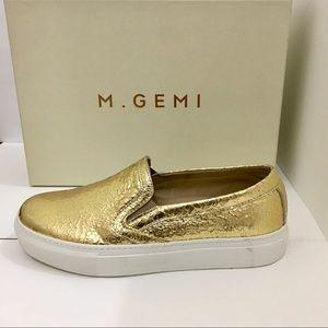 M. Gemi The Fresco Gold Metallic Sneakers